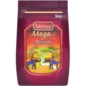 Veetee Mega Extra Long Premium Rice  10 kg ( pack of 5kg x 2 )