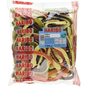 Haribo Yellow Belly Giant Snakes, Yellow Bellies Bulk Sweets, 3 kg