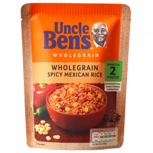 Uncle Ben's Microwave Wholegrain Spicy Mexican Rice 250gm Pouch ( Pack of 2 )