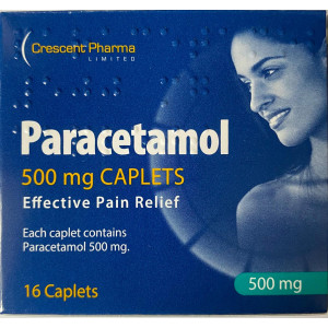 Paracetamol 16 Tablets 500mg Effective Pain Relief,Easy To Swallow